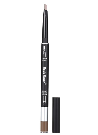 2 em 1 Sobrancelha de dupla extremidade Lápis e sobrancelha em pó Resistente à água de longa duração Sobrancelha Enhancer Pen