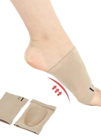 1 par pies planos Ortesis fascitis plantar ayuda de arco de la manga del talón del cojín del amortiguador del pie Plantillas Spurs cuidado de los pies de herramientas Ortesis Pad