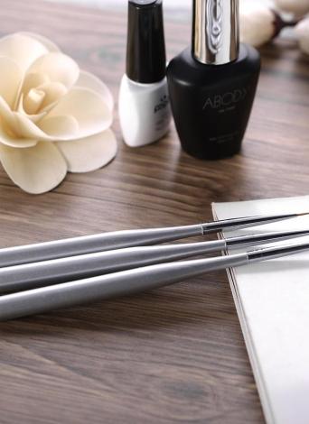 3pcs / set professionnel acrylique Nail Art Brosse de pinceaux d'art Nal pour Gel UV Nail Builder Dessin Ligne
