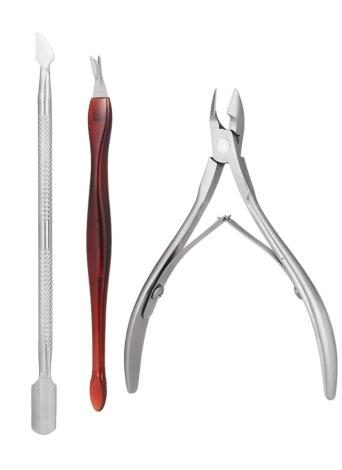 Набор для ногтей из нержавеющей стали 3шт. Набор для ногтей для ногтей Набор для маникюра и педикюра Профессиональный комплект для путешествий и ухаживания