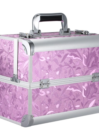 Foldable Cosmetic Lockable Stand Jewelry & Nail Art Tools Storage Box