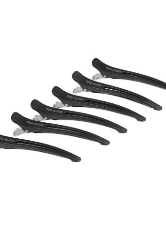 Smith Chu 6pcs clip pato pelo clips de seccionamiento Kit de abrazadera Salon Styling corte acortar el sistema de peluquería abrazaderas Negro