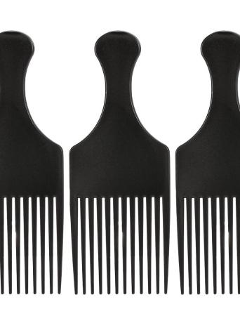Anself 3Pcs Afro pettine ricci spazzola per capelli pettine parrucchiere che designa attrezzo nero per uomo e donna