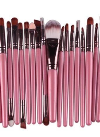 Brosse à lèvres pour sourcils à sourcils professionnel 20PCS, ombre à paupières, à maquillage et à maquillage Kit de toilette design en laine Pinceau Maquillage Professionnel