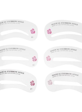 24 Pcs Eyebrow Stencil Kit Eyebrow Grooming Stencil Set Eyebrow Shaping Drawing Templates DIY Make Tools