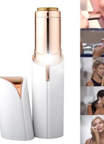 Mujeres lápiz labial forma afeitadora mini portátil eléctrico impecable depilatorio facial sin dolor depilación cera depilación dispositivos