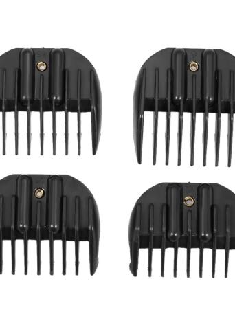 4 مقاسات الحد مشط الشعر المقص دليل مرفق ل حلاقة الشعر الكهربائية ماكينة حلاقة صالون حلاقة أداة Chicuu Com