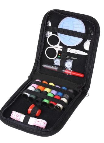 Ferramentas de costura Kit Scissor Thread Pins Botão de fita Button Thimble Needle Threader Início Viagens Emergências