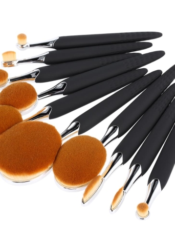 10Pcs Bee-Shaped Kit Nylon Hair Poudre Concealer Fondation Makeup Brushes