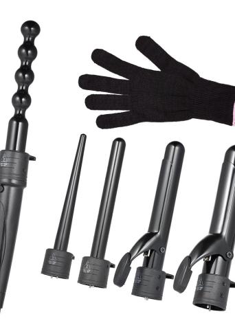 5 en 1 Profesional Salon Hair Curling Iron Hair Styling Tool con 5 Diámetros Tubos UK Plug
