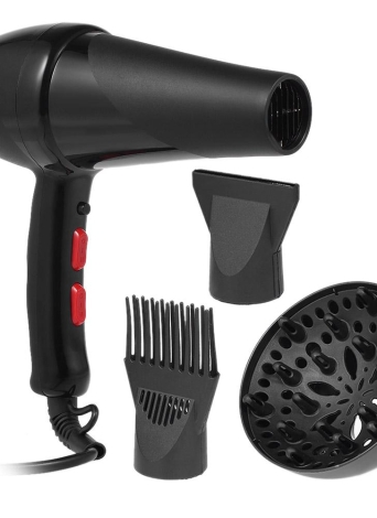 Pro cheveux séchoir coup de cheveux avec buse et diffuseur de doigt pour salon de coiffure Salon de coiffure outils de coiffure 2300W EU Plug