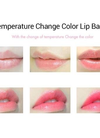 F6106 Fexport Shiny Purple Transparent Diamond Lip Balm Crystal Magic Temperature Color Change Lipsticks