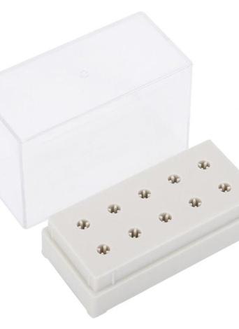 10 отверстий Ножницы для сверления ногтей Держатель для дисплея с карманом для хранения Ящик для ногтей Шлифовальные головки Дисплей для маникюра