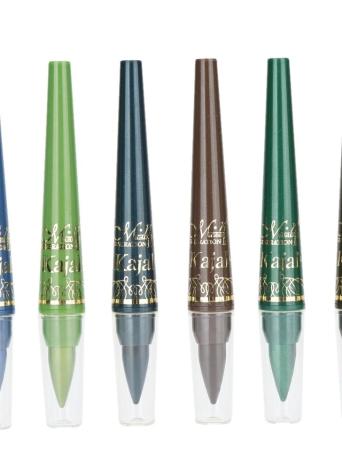 Anself 6PCS M.N Maquillage Eyeliner en Texture Crémeuse et Soyeuse Lisse & Fard à Paupières Crayon Stylo Kit A/B