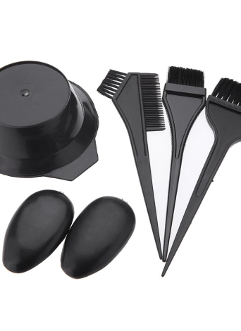 5Pcs Hairdressing Brushes Bowl Combo Salon Hair Color Dye Tint Tool Set Kit