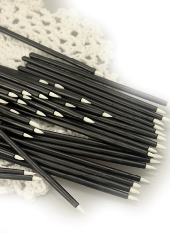 50Pcs Disposable Cosmetic Eye Liner Brush Makeup Tool