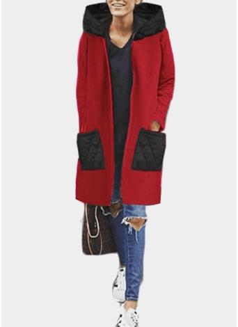 Women  Long Hoodie Sweatshirt Coat Pockets Zip Up Outerwear