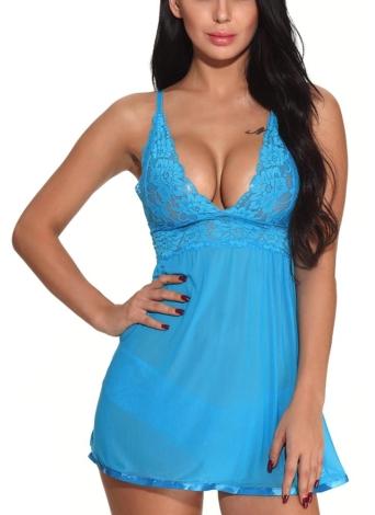 Сексуальное женское бельё Babydoll Lace Dress Set нижнее белье Прозрачная ночная рубашка