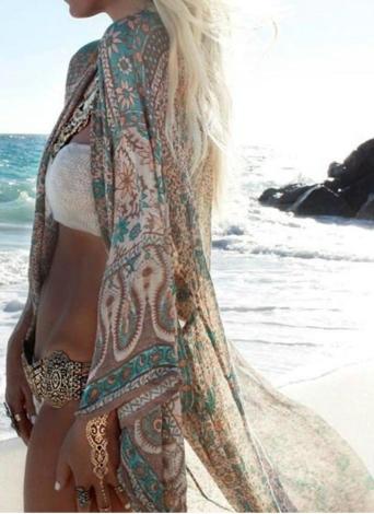 Frauen Chiffon Kimono Cardigan