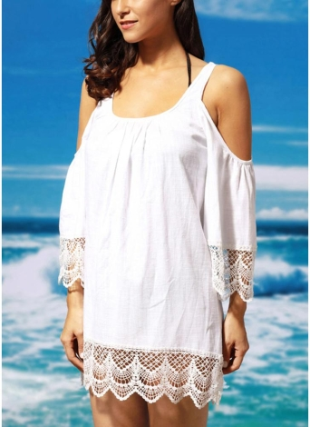 Femmes Cover-up Cold Shoulder Beachwear