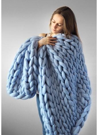 Manta gruesa hecha a mano de punto grueso mano hilado tejido grueso tiro sofá manta para dormitorio sala de estar 1.6 kg 100 * 120 cm