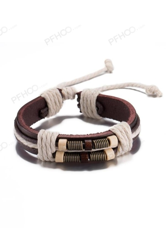 Rope Design Leather Cute Infinity Charm Bracelet