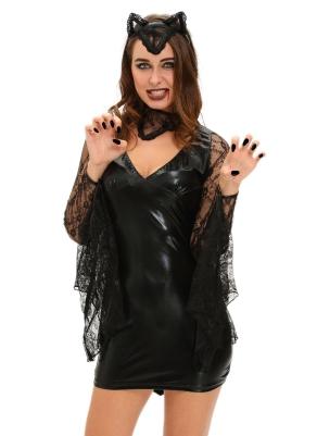 83e1129288 3pcs Sexy Moonlight Bat Halloween Costume