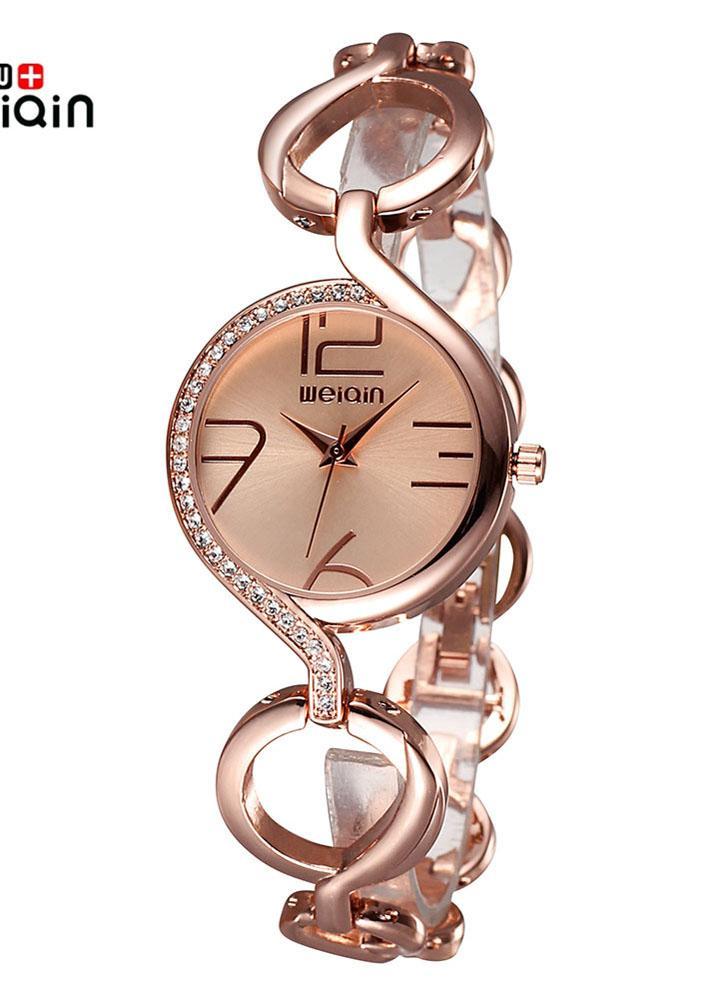 De Cuarzo Reloj Moda Pulsera Lujo Relojes Weiqin Hueco Marca Mujer D9HYEW2I