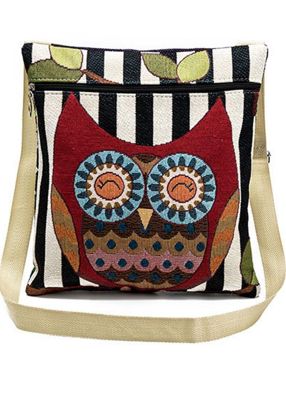 Nouveau Sac à main femme Sac à bandoulière brodé Cartoon Jacquard Casual Petit Vintage Crossbody Messenger Bag