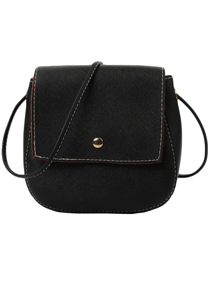 PU Solid Casual Vintage Crossbody Bag