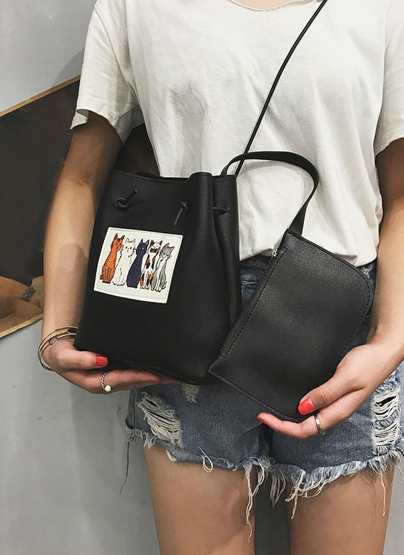 Set da due pezzi borsa donna a tracolla