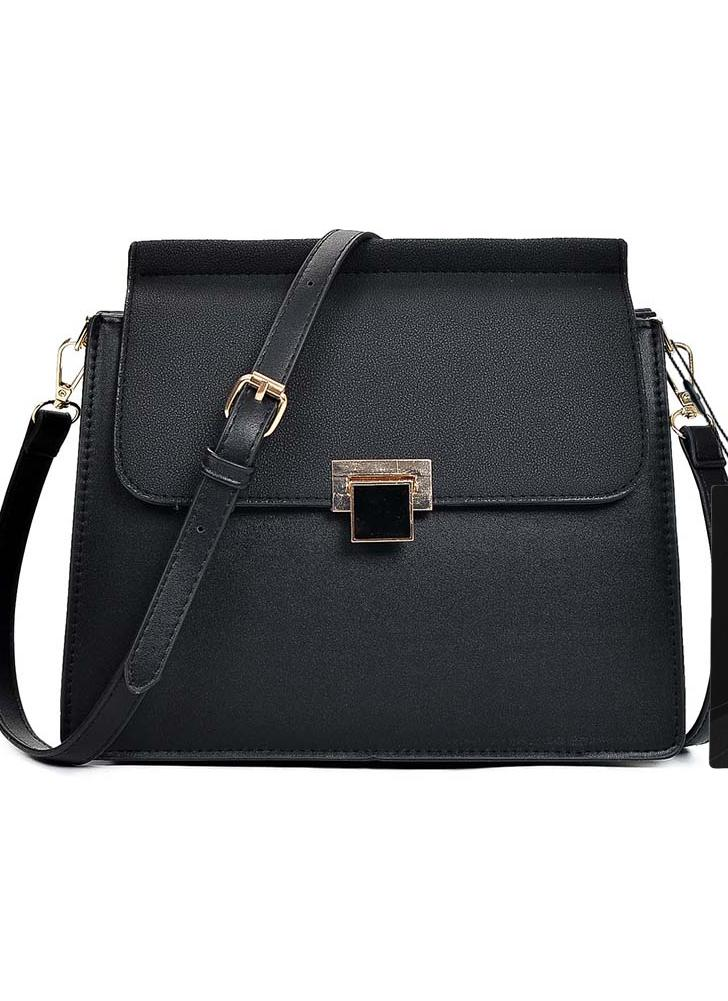 Women Casual PU Leather Flap Front Mini Crossbody Bag