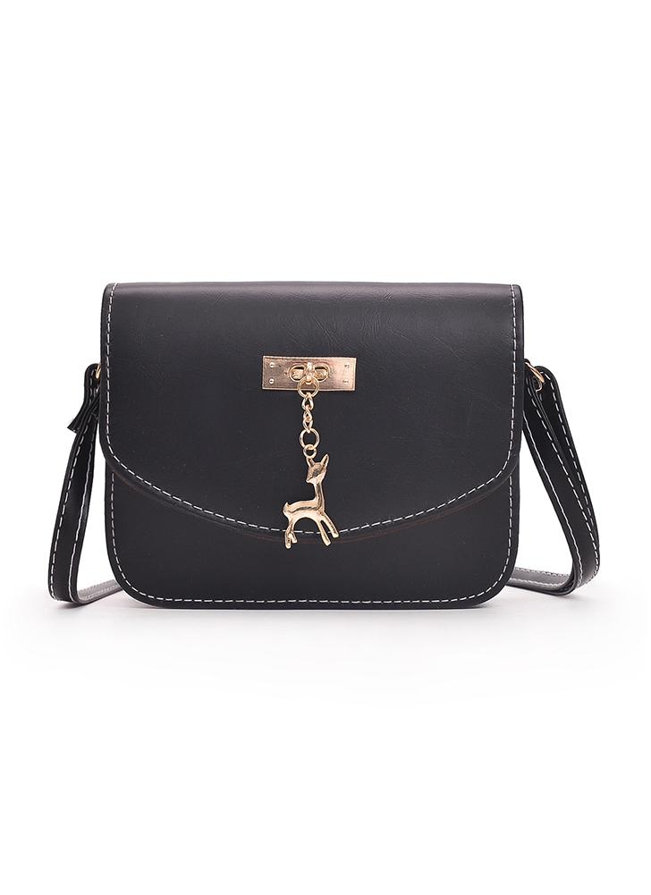 Vintage Women Crossbody Bag PU Leather Flap Casual Small Bag Shoulder Bag