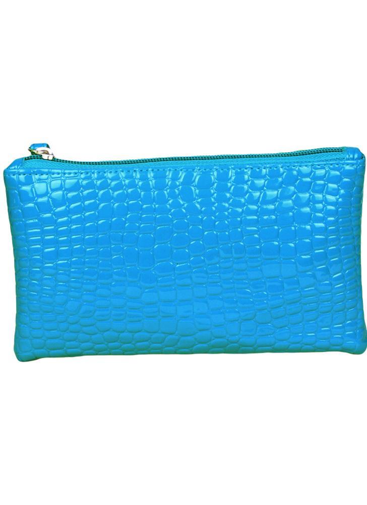 Nouveaux vêtements femme embrayage sac Crocodile cuir verni poignet sangle Zipper occasionnels porte-monnaie
