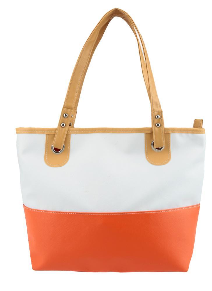 Manera las mujeres bolso PU cuero contraste Color caramelo Patchwork grandes Zip capacidad informal bolso bolso
