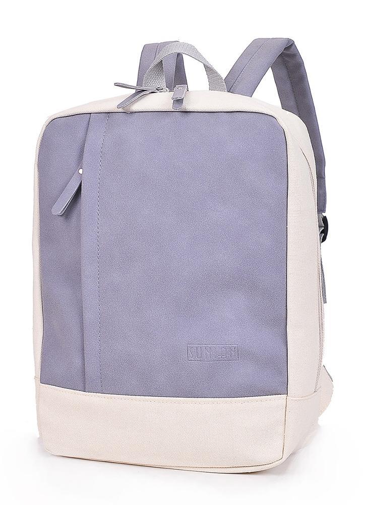 Toile sac à dos sacs deux tons étudiant scolaire sac à dos occasionnel sac à dos de voyage