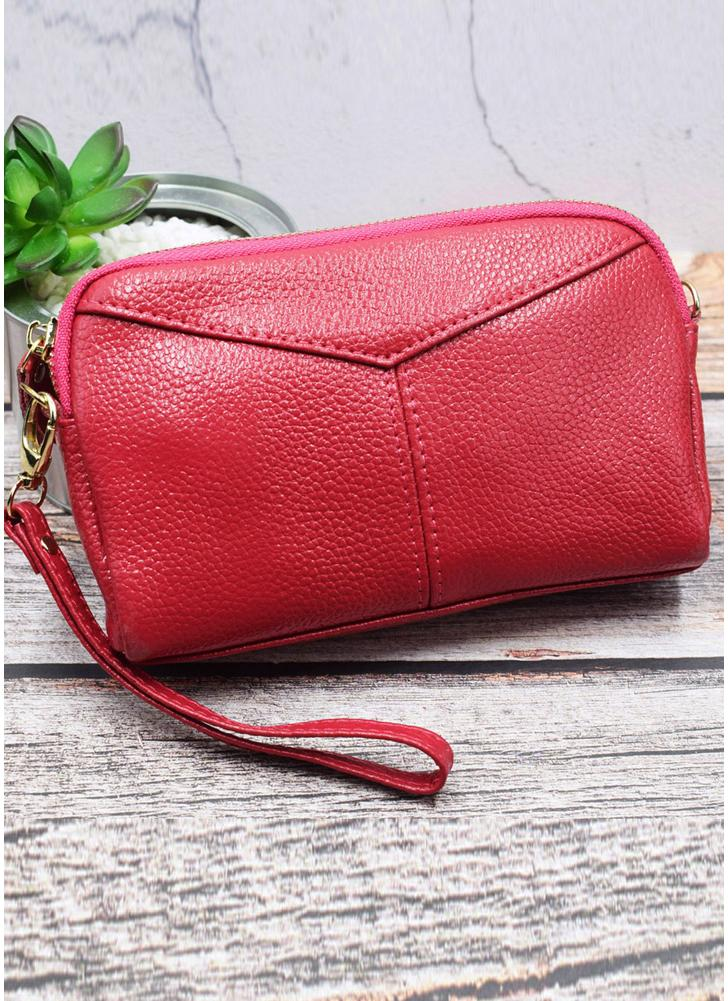 4ad7f319ebc0e rose Fashion Women Leather Wallet Clutch Large Capacity Purse Multi-Zipper  Lady Handbag Wristlet - Chicuu