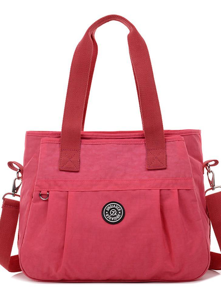 Nouveau mode femmes sac à main en Nylon imperméable à l'eau fermeture éclair presse magnétique Stud fermeture épaule Durable sac bandoulière Tote
