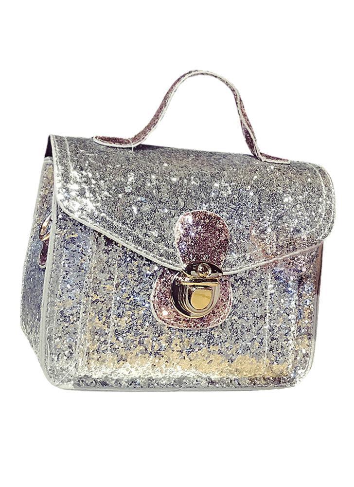 Mode PU pailletée chaîne en cuir femmes Petit sac à bandoulière