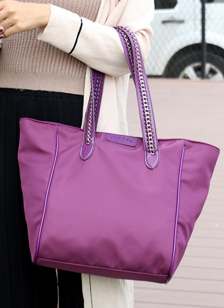 Bolsa De Ombro Para Viagem : Roxa mulheres bolsa de ombro compras viagem saco casual