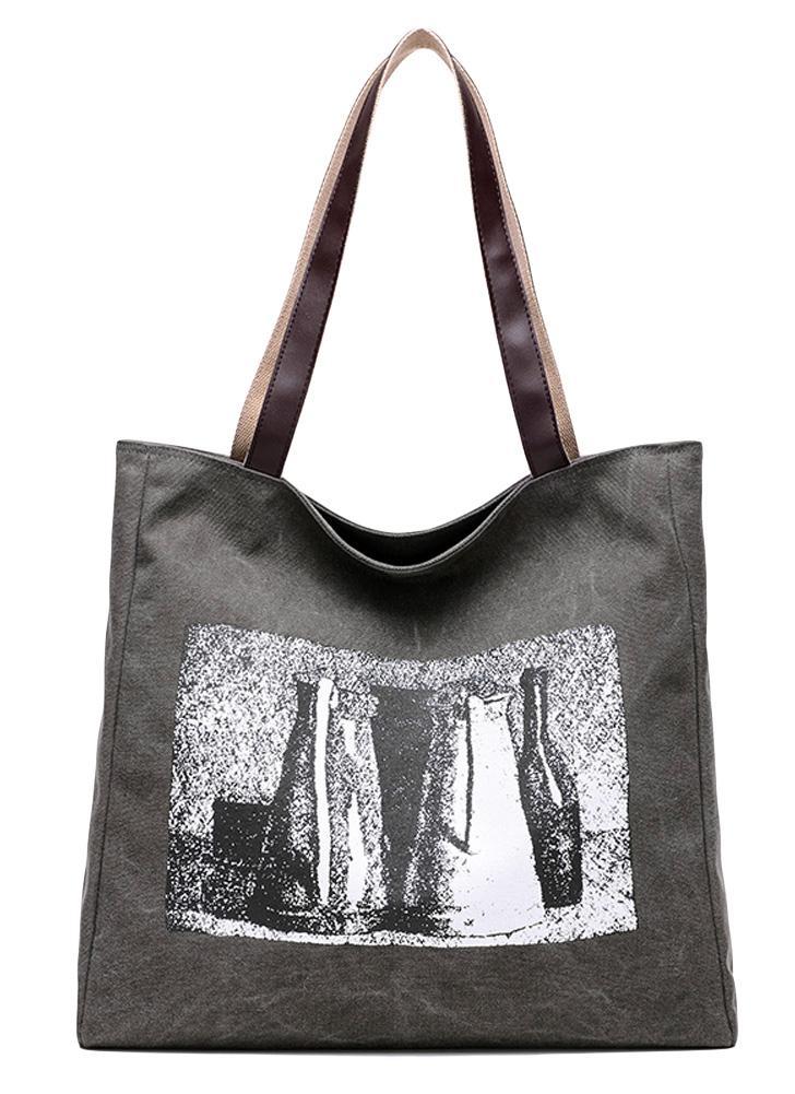 Neue Frauen Segeltuch Handtasche Print Schultertasche Große Kapazität beiläufige Versandtaschen Tote