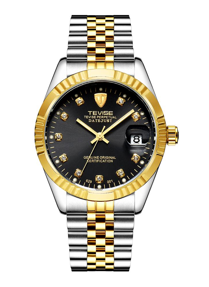 TEVISE Fashion Luxury Water-Resistant Semi-automatic Men Watch + Spinner