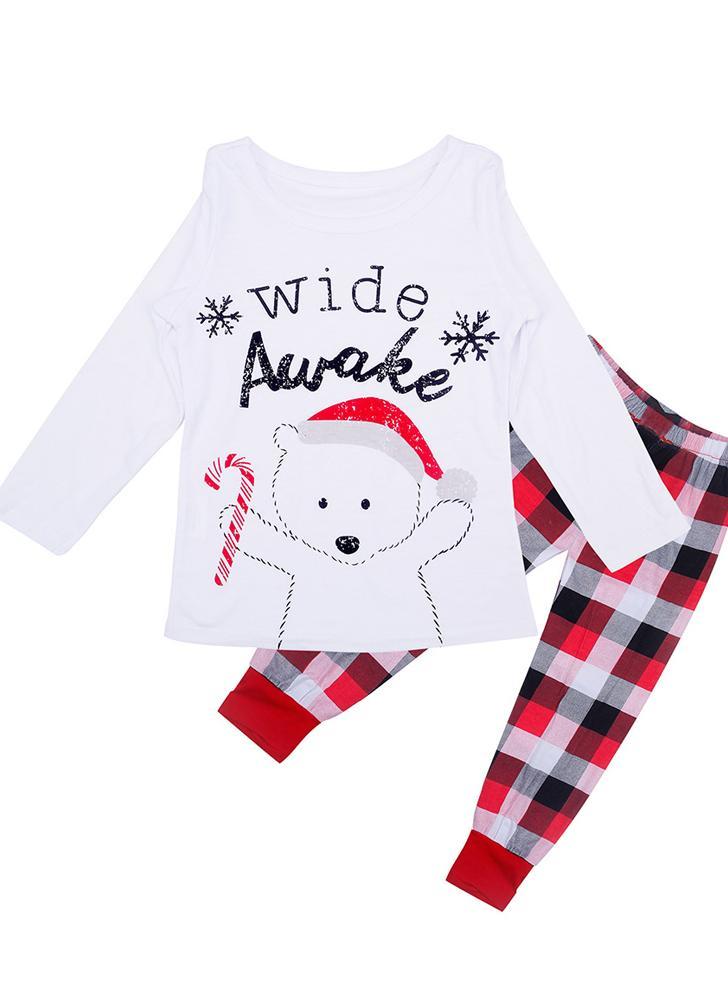 Kinder Weihnachten Familie Langarm Pyjamas Size100