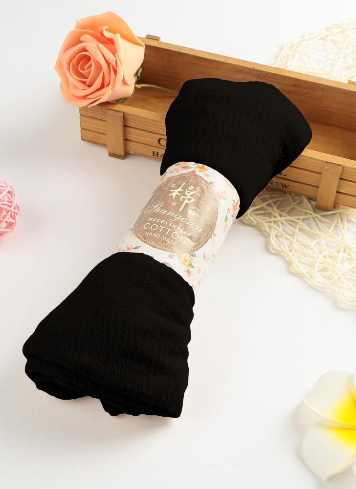 Fashion Women Hijab Bubble Plain Long Scarf