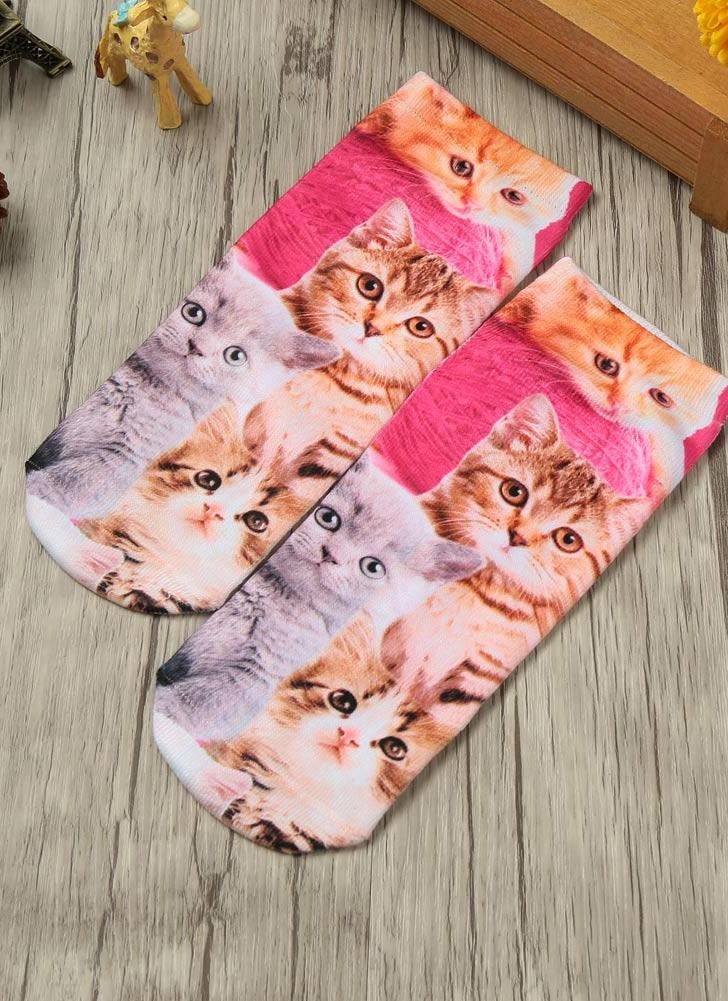 Cute Cartoon Print Low Cut Ankle Casual Socks
