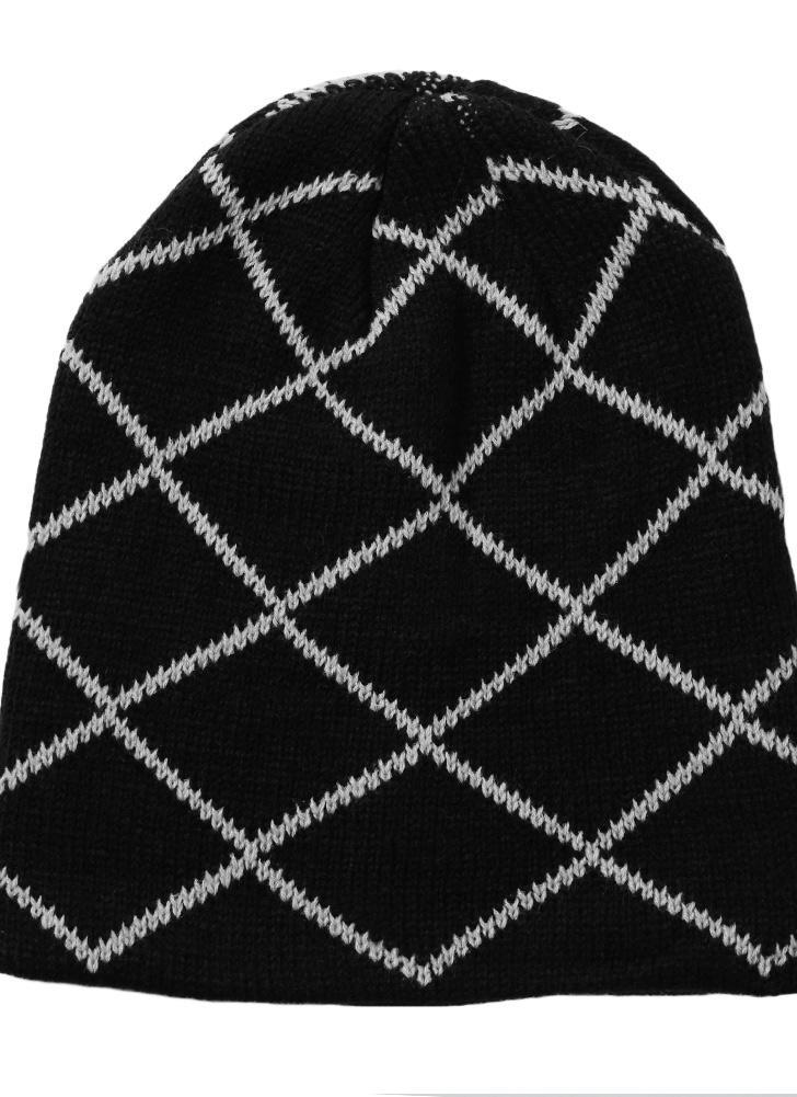 Hombres de las mujeres gorro de punto sombrero del invierno del otoño unisex casquillo caliente Slouch Skullies capo Accesorio de cabeza ocasional