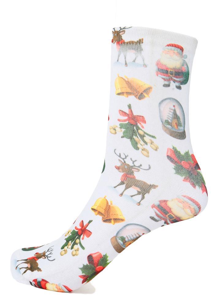 1 Mode Frauen Weihnachtssocken Weihnachtsmann Schneemann-Geschenk ...