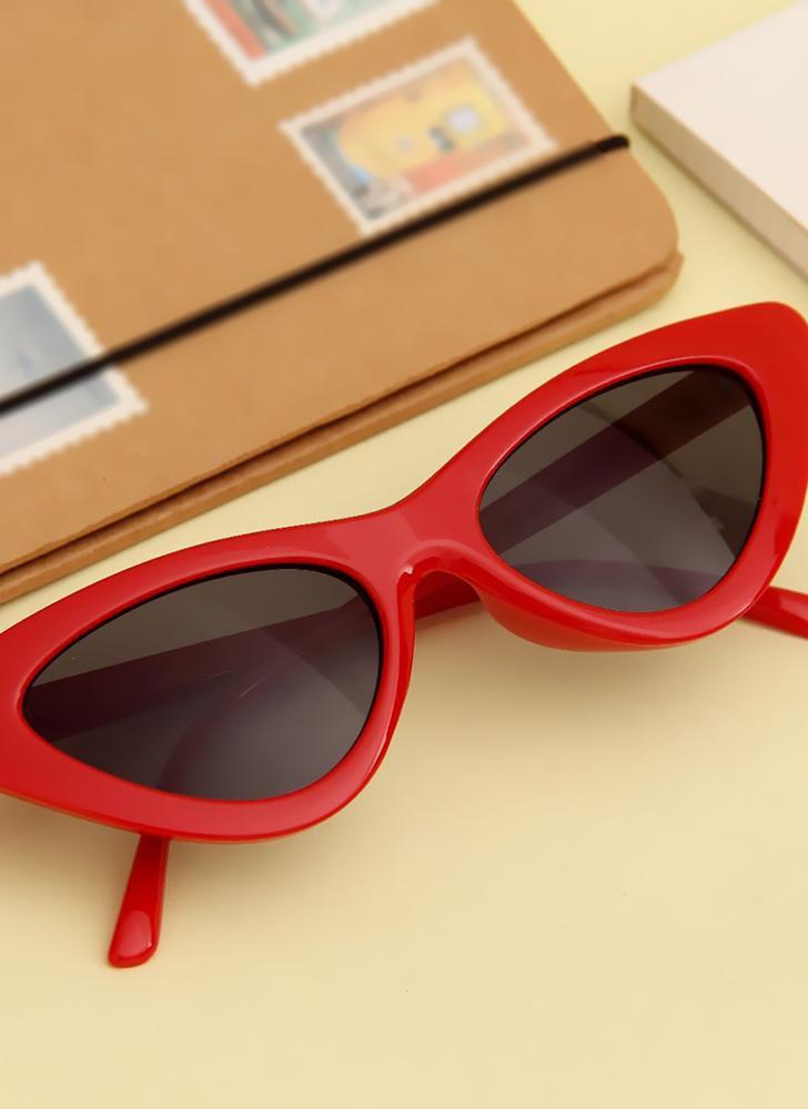 dc8c144f21e #2 Fashion Retro Sexy Cat Eye Sunglasses UV400 Women Charming Vintage Triangle  Sunglasses - Chicuu