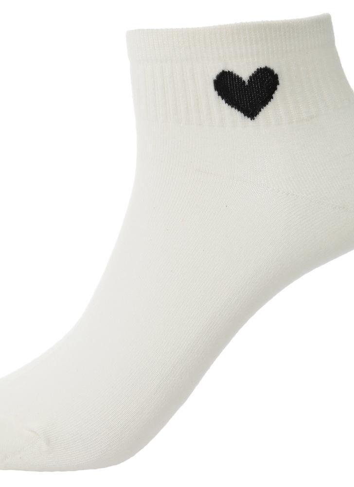 3 Neue Art und Weise Frauen-Socken Solid Color Herz Low Cut Breath ...