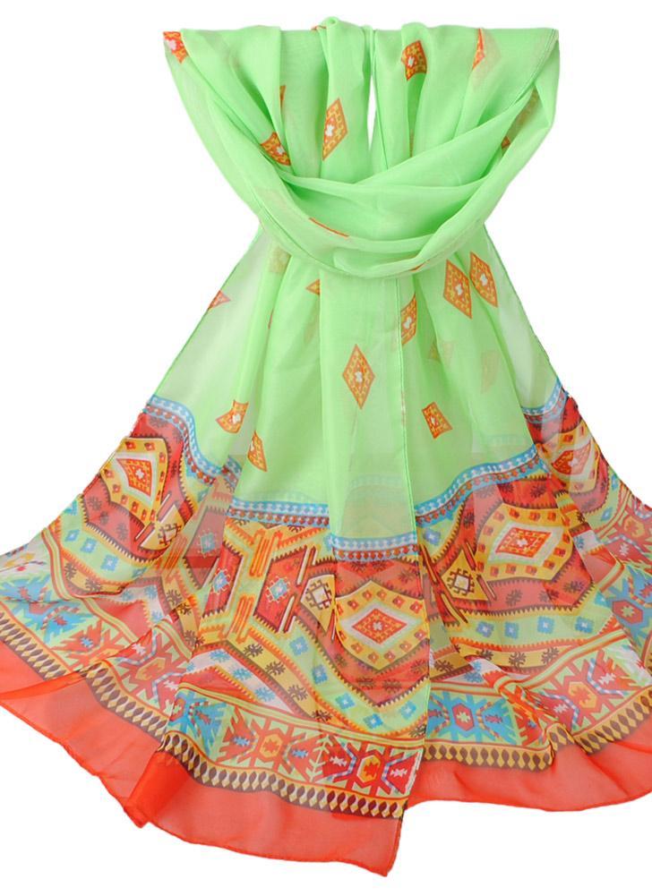 Mulheres Chiffon Scarf Shawl de impressão especial Contraste Soft Color Suave Scarf lenços longa fina Pashmina